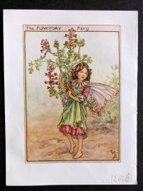 Cicely Mary Barker C1940s Flower Fairy Print. Fumitory Fairy